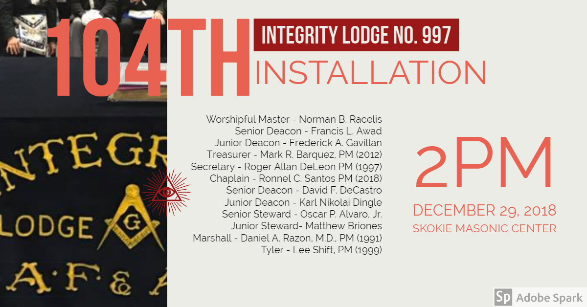 Integrity Lodge No  997